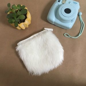 Urban Outfitters• White Fuzzy Coin Purse